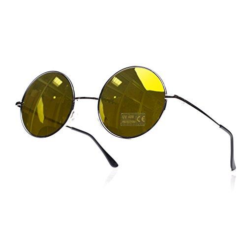 unisex Gafas ahumados con diseño TM cristales rainbow sol lennon ochentero silver de negro 4sold Negro 5YwCqzxfq