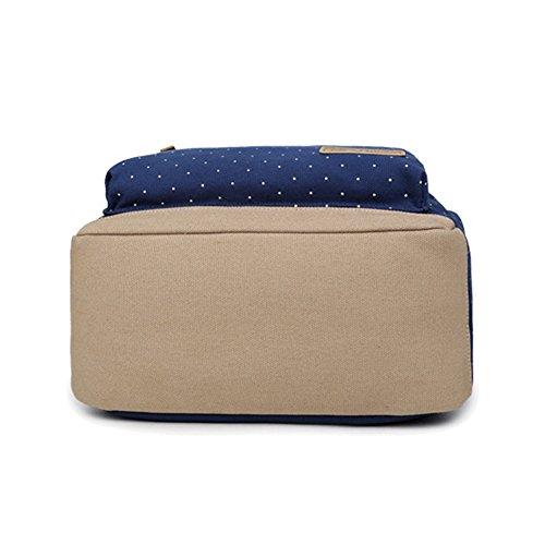 School for DailyStar Backpack Women Dark Canvas Girls Travelling Vintage for Girls Blue Backpack Women Laptop nZZqtAxYwr