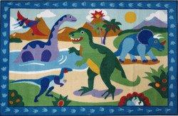 Olive Kids Dinosaurland Dinosaur Kids Rug Rug Size: 3'3'' x 4'10''