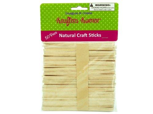 Krafters Korner CC604 Natural Wood Craft Sticks Case of 125 by krafters korner