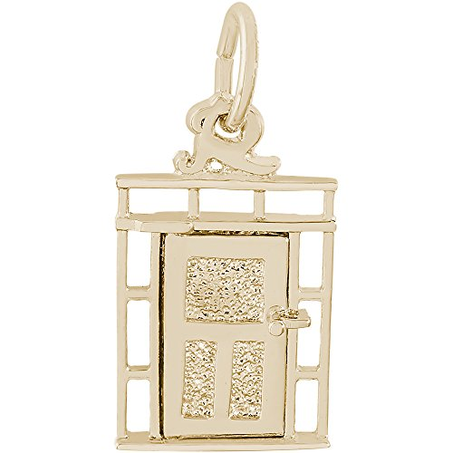 Rembrandt Charms 14K Yellow Gold Door Charm (0.57 x 0.41 ()
