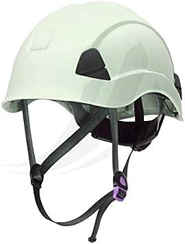 Safetop 80661 - Casco climber en397. 1000v c/barboquejo. ruleta. blanco