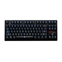 Tt eSPORTS POSEIDON ZX Blue Switch LED Backlit Mechanical Gaming Keyboard with World's First 5 Years Warranty KB-PZX-KLBLUS-01