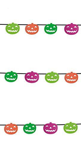 Rubie's' S4327-Pumpkin Garland-Neon-S]()