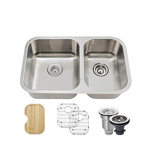 530L Small Offset Stainless Steel Sink, Cutting Board, Two G