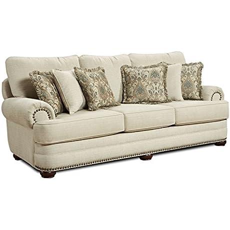 Contemporary Devon Sofa In Beige 733693