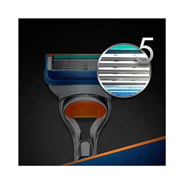 Gillette Fusion 5 Lamette di Ricambio per Rasoio, Confezione da 11 Testine + Manico Gratis 6 spesavip