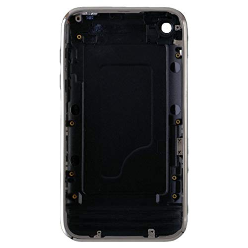 Door with Chrome Bezel for Apple iPhone 3G (Black) with Glue ()