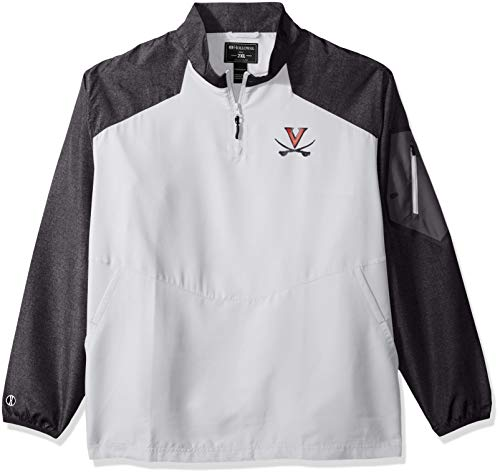 Ouray Sportswear NCAA Virginia Cavaliers Men's Raider Pullover Jacket, Carbon Print/White, Large (Virginia Pullover)