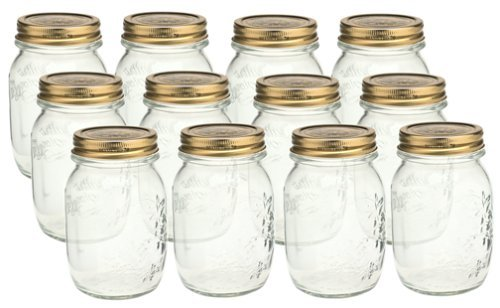 Bormioli Rocco Quattro Stagioni 17 oz. Canning Jar, Set of 12