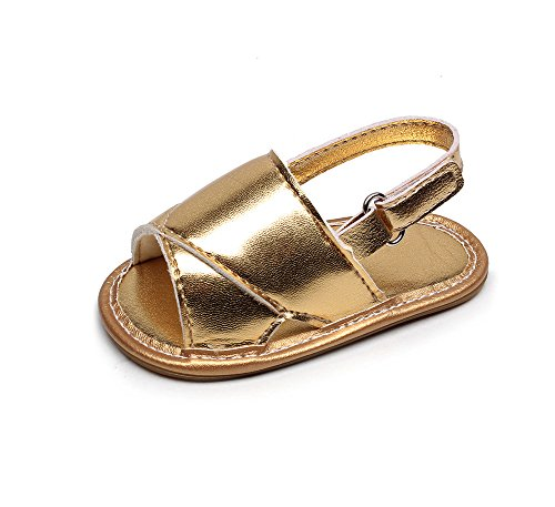 Prevently Babyschuhe Sandalen Jungen und Mädchen Sandalen Babyschuhe Kinder Baby Casual Strand Sandalen Sommer Solide Sohle Krippe Hohl Schuhe Sneaker Gold