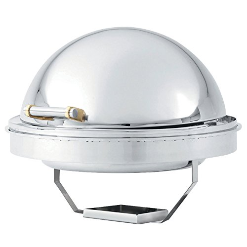 - Vollrath 46268 6 Qt. New York, New York Drop-In Round Retractable Dripless Chafer with Brass Trim