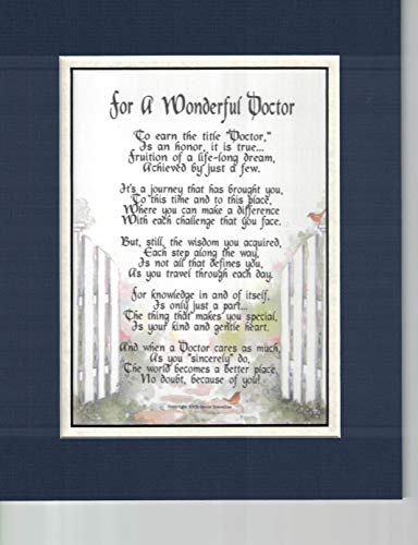 (#168 Gift Poem Present For a Doctor, Thank you gift. More Color Options)