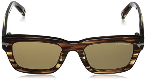 G-Star - Lunette de soleil GS600S Fat Dexter Rectangulaire Striped brown
