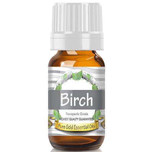 Birch Essential Oil (Premium Grade Essential Oil) 10ml - Best Therapeutic Grade - Perfect for Your Aromatherapy Diffuser, Relaxation, More!