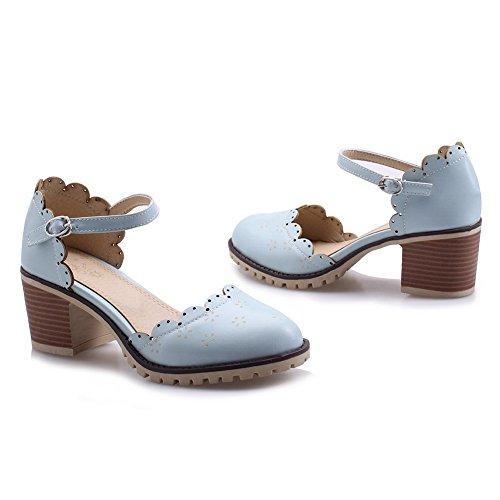 ASL05245 BalaMasa Bleu Compensées Bleu 5 Femme Sandales 36 B7ddKqzS