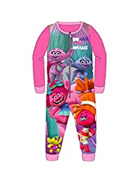 DreamWorks Girls Trolls All in One Piece Character Childrens Pyjamas Ages 4-10