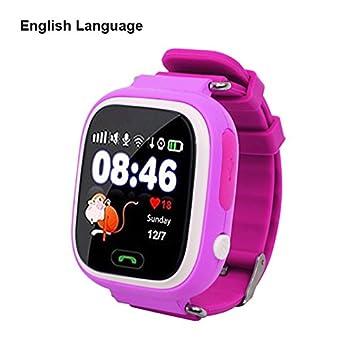 Eleganantimpresionante Pantalla táctil WiFi posicionamiento niños Smart Reloj de Pulsera localizador para niños Seguro antipérdida Rosa: Amazon.es: ...