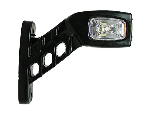 Juego de 4 luces de posici/ón laterales LED 12 V//24 V para camiones y camiones barcos blanco y naranja color rojo