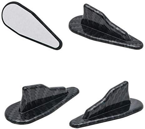 Shark Fins Spoiler Wing SUNWAN Universal EVO-Style PP Roof Shark Fins Spoiler Wing Kit Vortex Generator 10PC