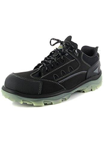 WiCa Herren Sicherheits Halbschuhe S3 - Schwarz Schuhe in Übergrößen