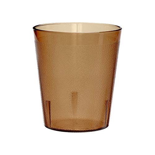 Cambro 1200P153 12.6 -Ounce Capacity 2-15/16-Inch Diameter by 5-3/16-Inch Height Amber Plastic Colorware Tumbler (Case of -