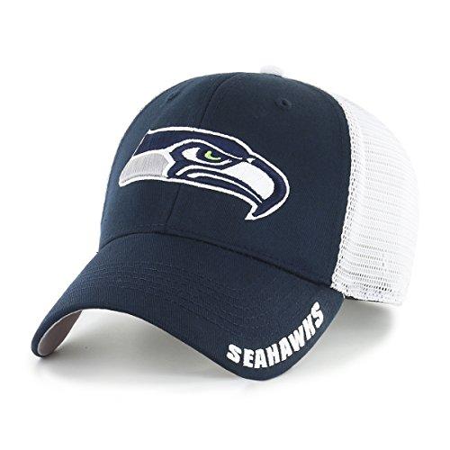 NFL Seattle Seahawks Men's Hursh OTS Center Stretch Fit Hat, Team Color, Large/X-Large