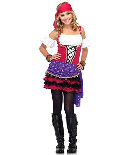 Crystal Gypsy Halloween Ball Costume (Leg Avenue J48036 Crystal Ball Gypsy Junior Halloween Costume - S/M -)