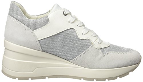 4 C Zosma Geox White Lt D Grey C0856 Off Women's Trainers Ivory Grey Off White RHp8Wtfpn