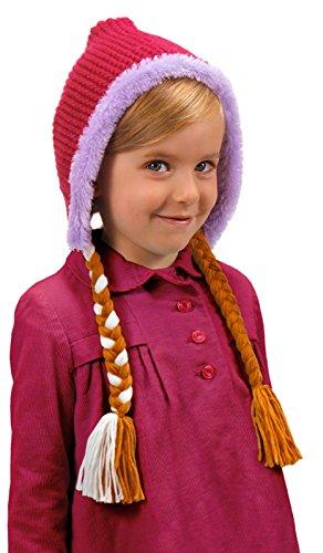 Disney's Frozen Anna Hoodie Hat with Braids by (Frozen Costume Accessories)