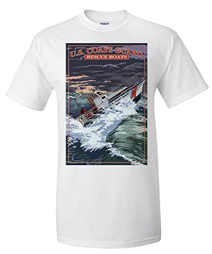 U.S. Coast Guard - 44 Foot Motor Life Boat (White T-Shirt X-Large) - Coast Guard Motor Lifeboat