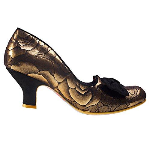 Irregular ChoiceDazzle Razzle - Zapatos de Tacón mujer Gold Black