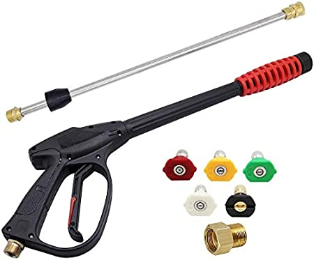 Amazon Com Twinkle Star 3000 Psi High Pressure Power Washer Gun With 21 Inch Replacement Wand Power Washer Gun With M22 15 Or M22 14 Fitting 5 Nozzles Tips Tws139 Industrial Scientific