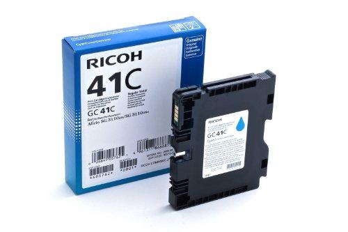 Ricoh Cyan Ink Cartridge, 2200 Yield, Type GC41C (405762)