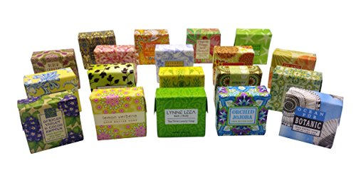 Natural Extracts Botanical Soap Sampler Set of 19 1.9 oz Soap Bars Gift Boxed by Lynne Leea Guest Soap Gift