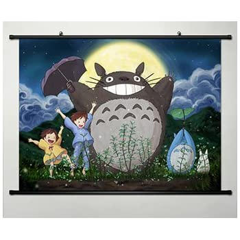 Anime My Neighbor Totoro Home Decor Wall Scroll Poster Fabric Painting 23.6  X 17.7 Inches