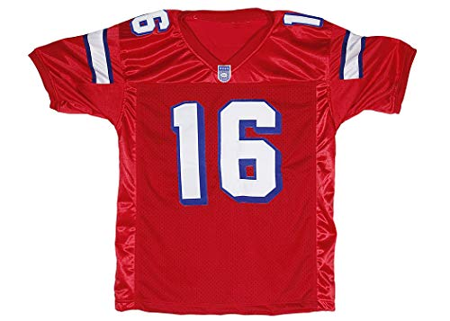 Shane Falco 16 Washington Sentinels Home Football Jersey Replacements Includes League Stitch (50, red)