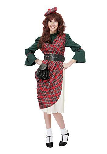 (Women's Scottish Lassie Costume Large)