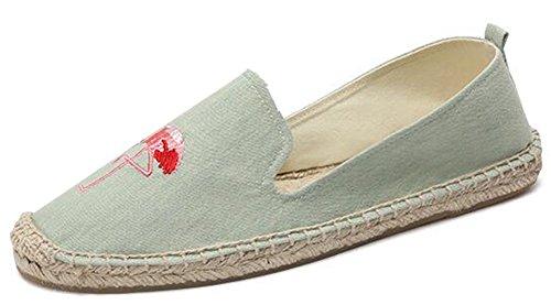 Comfortabele Damesschoenen Met Capuchon En Comfortabele Print Op Eespadrilles Schoenen Blauw 4