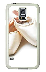 Ballet Shoes Theme Case for Samsung Galaxy S5 i9600 PC Material White