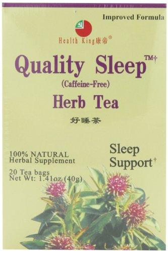 Health King  Quality Sleep Herb Tea, Teabags, 20-Count Box (Pack of ()