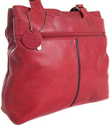 Gigi Leather Brown Navy Handbag Othello Red TONE 544 Black Shoulder 2 amp; amp; Colours Section TWO Various Mid Real rH8rwq7EZx