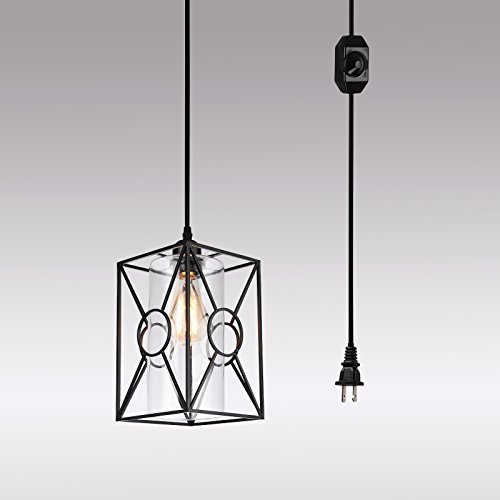 HMVPL Plug-in Pendant Lights with Glass Lamp-Shade, for sale  Delivered anywhere in Canada