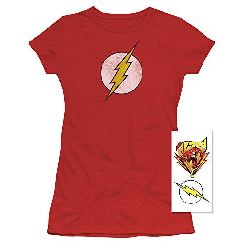 Popfunk Flash Logo Juniors T Shirt Red