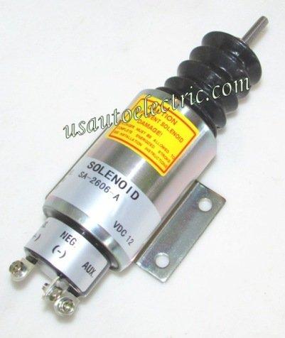 Solenoid, Fuel Shut Down, For Mitsubishi Replaces SA2606-A, 2001-12E2U1B2S1A, 2001-12E2U1B2,2001-12E2U1B1, 2001-12E2U1B1S1A