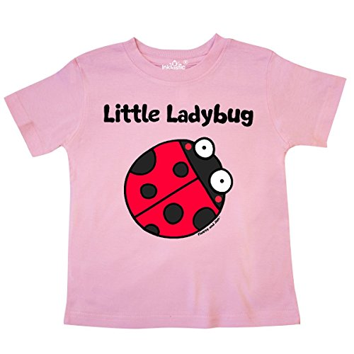 inktastic Little Ladybug Toddler T-Shirt 4T Pink - Flossy and Jim (557 Ladybug)