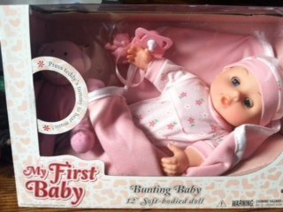 My First Baby Bunting Baby (with music playing teddy (Babys First Music)