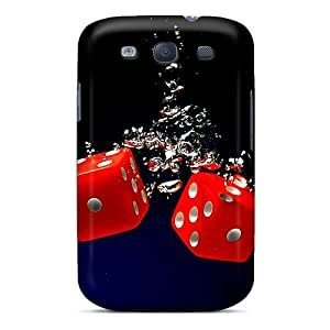 Top Quality Case Cover For Galaxy S3 Case With Nice Wet Dice Appearance