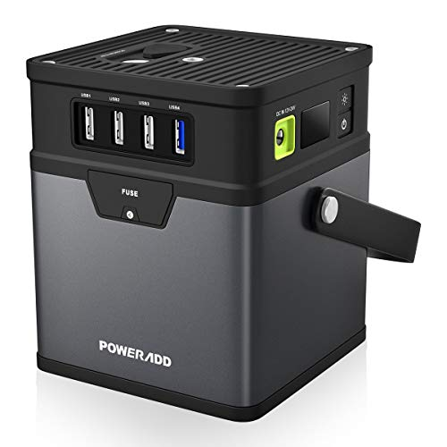 POWERADD Portable Power Station 185Wh 50000mAh Outdoor Generator AC Inverter (115V/100W) Optional Power Source (DC 5V/12V/19V) for Smartphone, IPad, Laptop, Fan, Mini Fridge and More