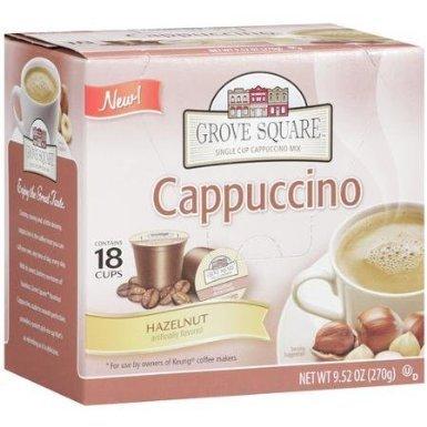 Grove Square Coffee Hazelnut Cappuccino, 9.52 Oz - 18 Cups by Grove Square